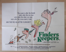 Finders Keepers, Original UK Quad Poster, Michael O'Keefe, Beverly D'Angelo, '84